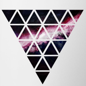 triangle of triangles galaxy triangle de galaxie de triangles Bouteilles et tasses - Tasse