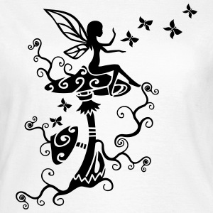 Elfe Fee Magic Mushroom Frühling Sommer Pilz Magi - Frauen T-Shirt