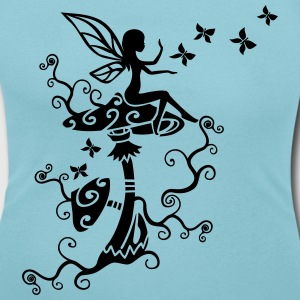 Fata Elfo Magic Mushroom Primavera Estate Farfalla Magliette - T-shirt scollata donna