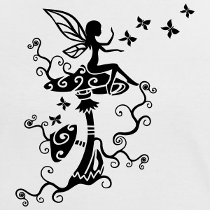 Fairy Elf Magic Mushroom Spring Summer Butterfly T-Shirts - Women's Ringer T-Shirt
