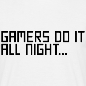Gamers Do It  T-shirts - Herre-T-shirt