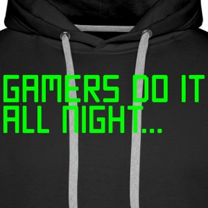 Gamers Do It  Gensere - Premium hettegenser for menn