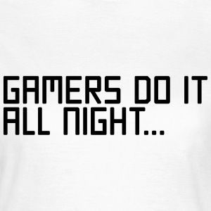 Gamers Do It  T-shirts - Dame-T-shirt