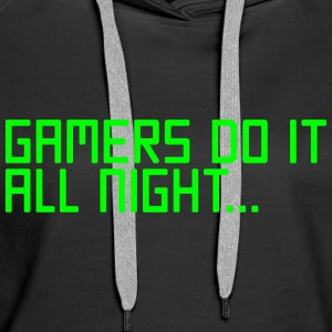 Gamers Do It  Pullover & Hoodies - Frauen Premium Hoodie