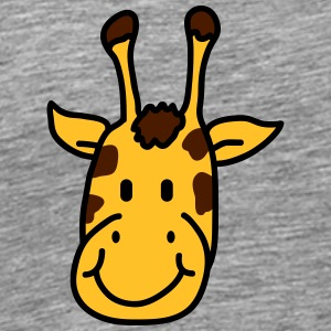 Sweet cute little giraffes child face T-Shirts - Men's Premium T-Shirt
