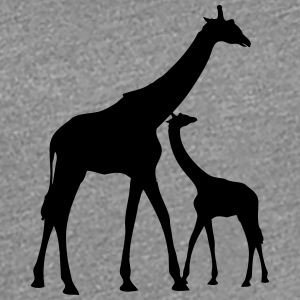 Mama Papa giraffe young family parents T-Shirts - Women's Premium T-Shirt