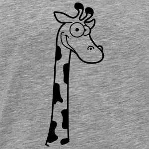 Funny funny cartoon comic giraffe design T-Shirts - Men's Premium T-Shirt