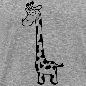 Funny funny cartoon cartoon giraffe T-Shirts - Men's Premium T-Shirt