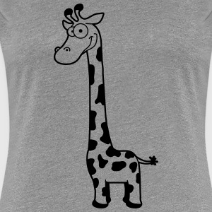 Funny funny cartoon cartoon giraffe T-Shirts - Women's Premium T-Shirt