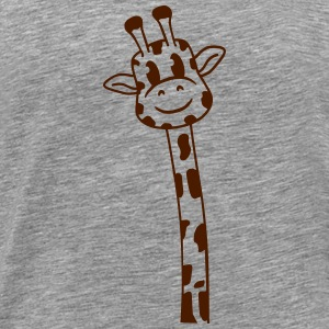 Funny comic cartoon giraffe design T-Shirts - Men's Premium T-Shirt