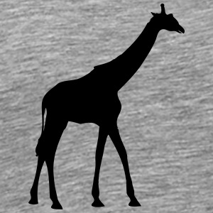 Giraffe outline shadow go design T-Shirts - Men's Premium T-Shirt