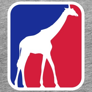 Giraffe logo icon Sport Red Blue Africa T-Shirts - Men's Premium T-Shirt