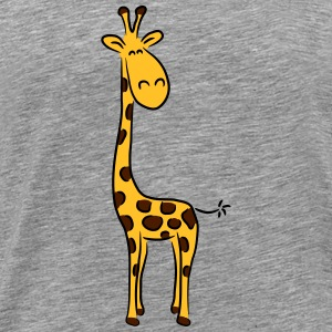 Giraffe design Africa lines art fun T-Shirts - Men's Premium T-Shirt