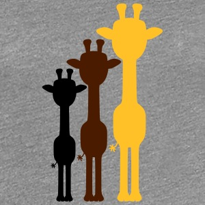 3 Cool giraffes outline shadow colorful colours de T-Shirts - Women's Premium T-Shirt