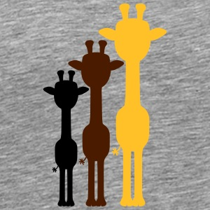 3 Cool giraffes outline shadow colorful colours de T-Shirts - Men's Premium T-Shirt