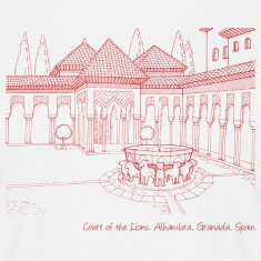 Alhambra, Court of the Lions 2 t-shirt