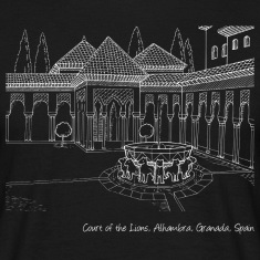 Alhambra, Court of the Lions 2 dark t-shirt