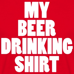 Beer Drinking Shirt T-shirts - Mannen T-shirt