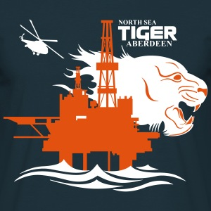 North Sea Tiger Oil Rig Platform Aberdeen T-Shirts - Men's T-Shirt