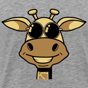 Sunglasses giraffe cartoon funny cool T-Shirts - Men's Premium T-Shirt