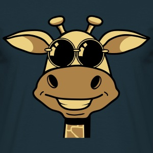 Sunglasses giraffe cartoon funny cool T-Shirts - Men's T-Shirt