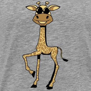 Giraffe sunglasses comic funny cool T-Shirts - Men's Premium T-Shirt