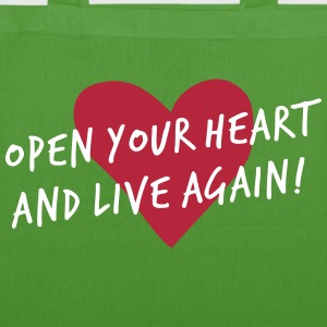 OPEN YOUR HEART - Bio-Stoffbeutel
