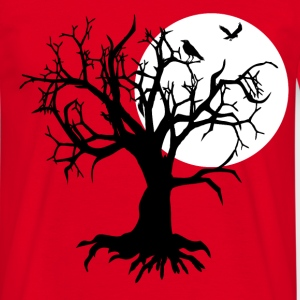 scary tree raven T-Shirts - Men's T-Shirt