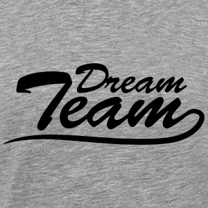 Text logotyp bokstäver par dream-team T-shirts - Premium-T-shirt herr