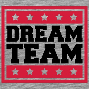 Text Box Sterne Logo Design Paar Dream Team T-Shirts - Men's Premium T-Shirt