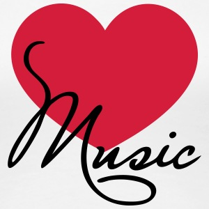 Heart I love music like classical choir band clef Koszulki - Koszulka damska Premium