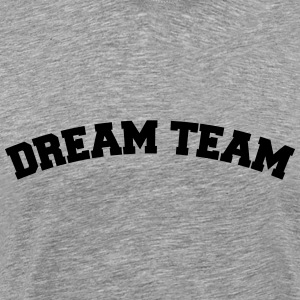 Text arch design vänner par par dream team T-shirts - Premium-T-shirt herr