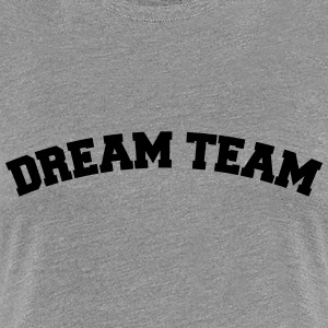 Text arch design vänner par par dream team T-shirts - Premium-T-shirt dam