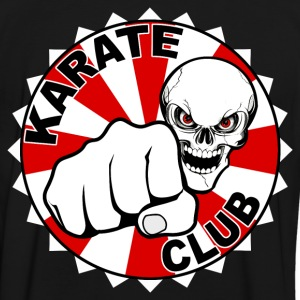 karate club skull T-skjorter - Kontrast-T-skjorte for menn