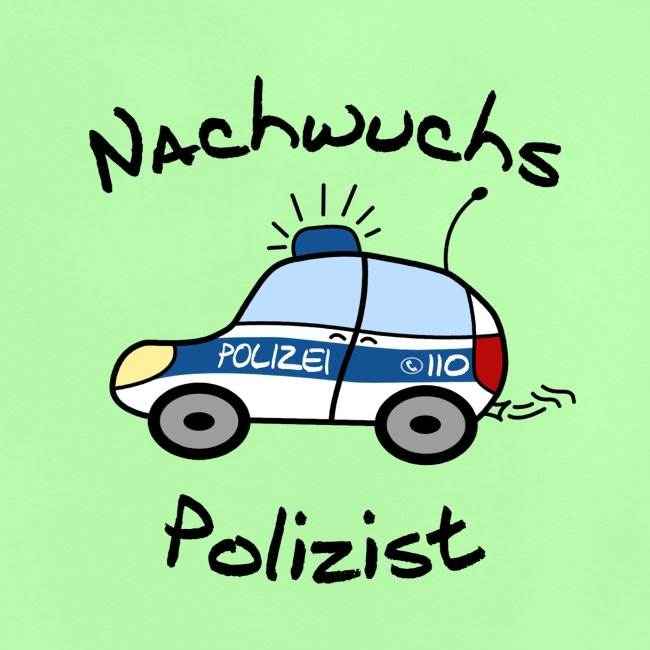 """Nachwuchs Polizist"" Baby T-Shirt"