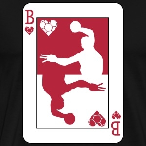 Handball Poker Card T-skjorter - Premium T-skjorte for menn