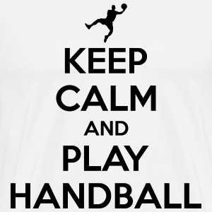 Keep calm and play handball T-skjorter - Premium T-skjorte for menn