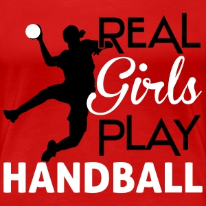 Real Girls play Handball T-shirts - Vrouwen Premium T-shirt