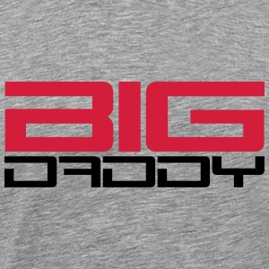 Big Daddy design dad father's day hero father T-Shirts - Men's Premium T-Shirt
