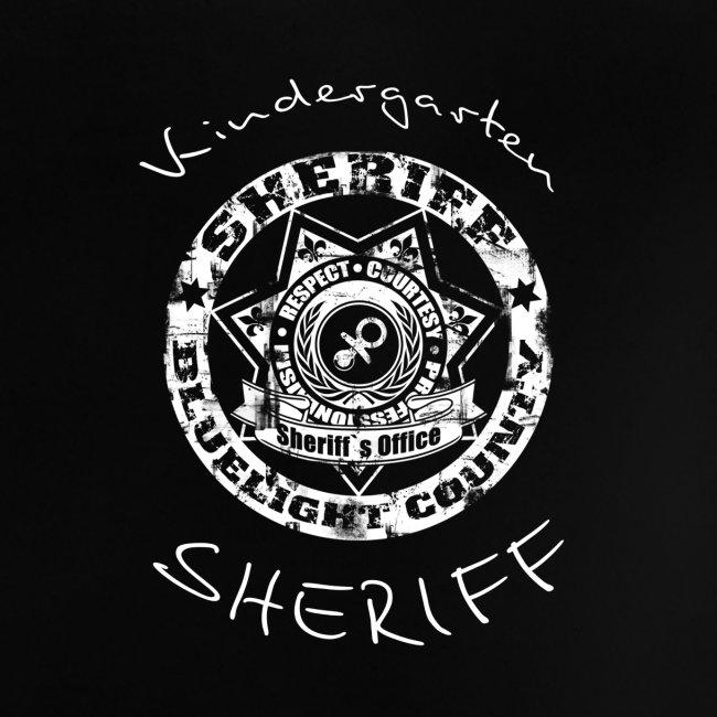 """""""Kindergarten Sheriff"""" Baby T-Shirt"""