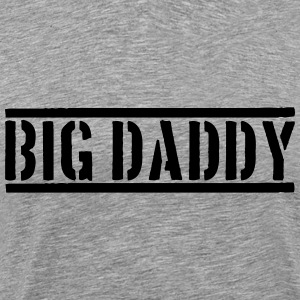 Big Daddy stamp father's day Dad father hero logo T-Shirts - Men's Premium T-Shirt