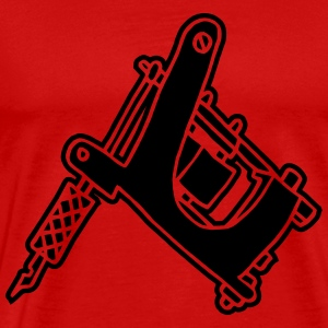 Tattoomaschine Tattoomachine tattoo machine Ink T-shirts - Herre premium T-shirt