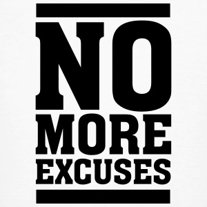 No More Excuses T-shirts - Mannen Bio-T-shirt