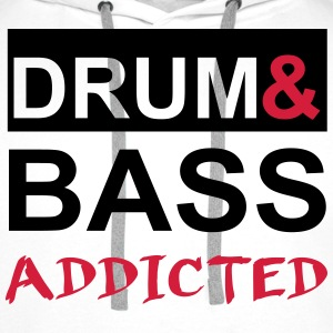 Drum and Bass Addicted Party T-Shirt Pullover & Hoodies - Männer Premium Hoodie