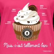 Motif ~ T-SHIRT bio femme cupcake