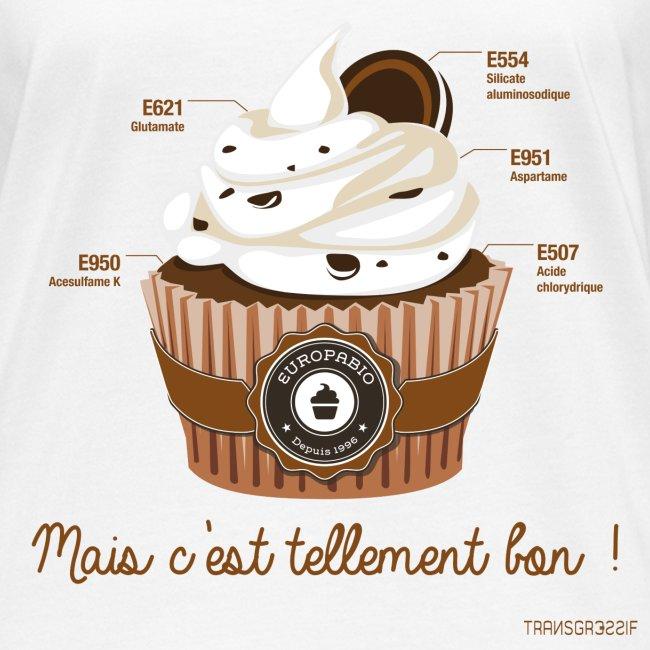 T-SHIRT bio femme cupcake