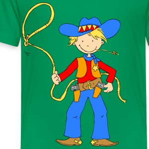 Cowboy with Lasso Shirts - Kids' Premium T-Shirt