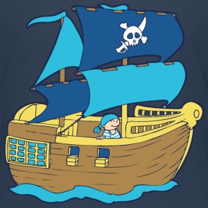 Pirate Boat Shirts - Teenage Premium T-Shirt