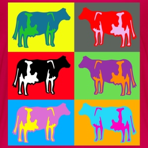 6 coloured cows multicolour Skjorter - Premium T-skjorte for barn