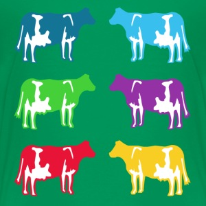 cow cows coloured  Shirts - Kids' Premium T-Shirt
